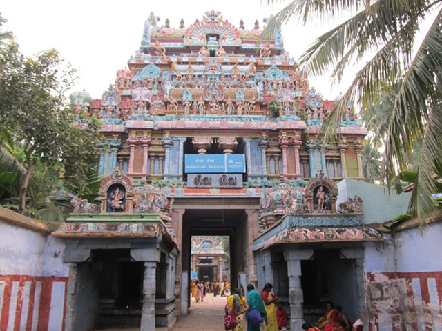 Inside-the-temple-complex-of-Jambukeswarar-Temple-in-ThiruvanaikavalTrichyTamilnadu-Panchabhootha-Sthalam-temple-for-Water