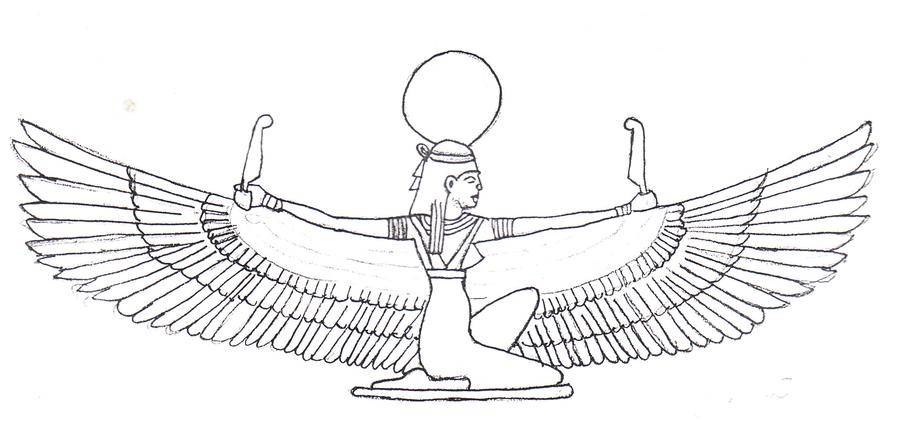 Богиня исида в древнем египте картинки раскраски